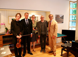 Henning Kraggerud, Ambassador Sven Erik Svedman & wife Gunilla Svedman, Bugge Wesseltoft, Siggi Loch - ©ACT