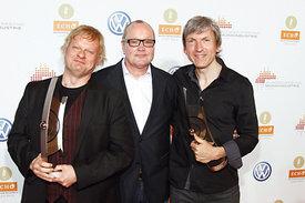 Iiro Rantala, Nils landgren & Magnus Öström / ECHO Jazz award ceremony Dresden 2012 - ©Nass / BVMI