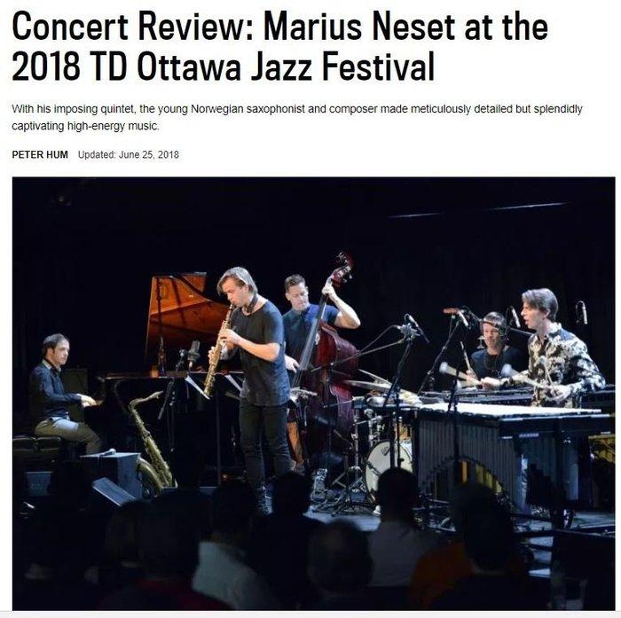 Marius Neset reaches high acclaim on North American tour