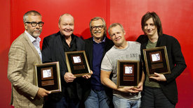 v.l.n.r.: Johan Norberg, Nils Landgren, Siggi Loch, Rasmus Kihlberg, Michael Wollny